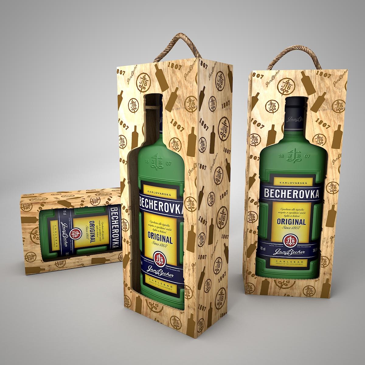 Darčeková krabica, Becherovka 3L