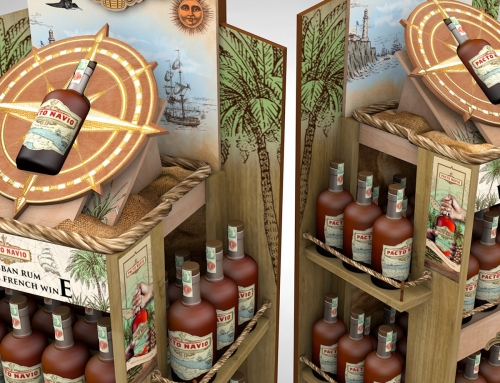 Pacto Navio, display for rum