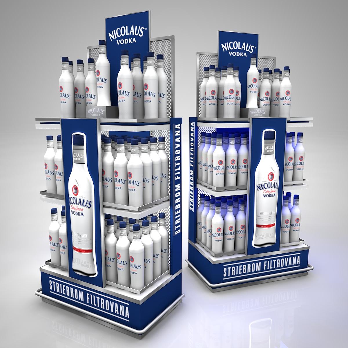 Nicolaus Vodka, regál