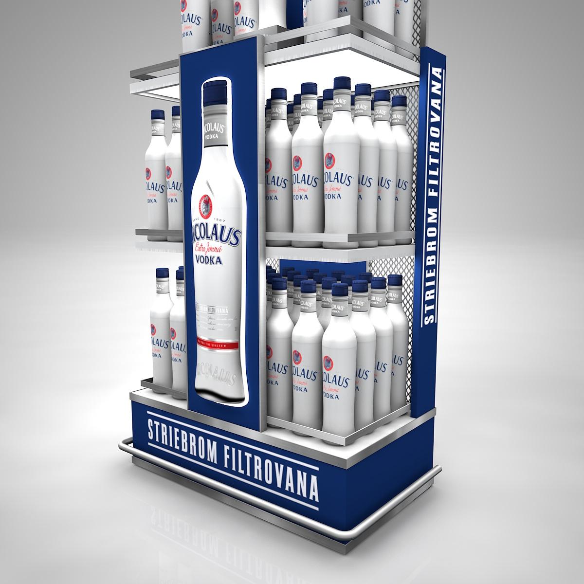 Nicolaus Vodka, regál na striebrom filtrovanú vodku