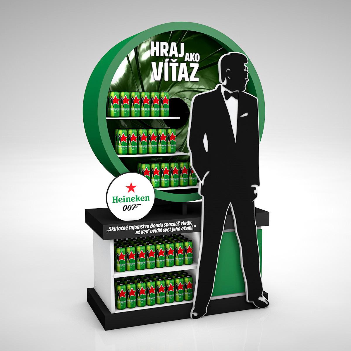 Heineken, James Bond 007 - promo stand