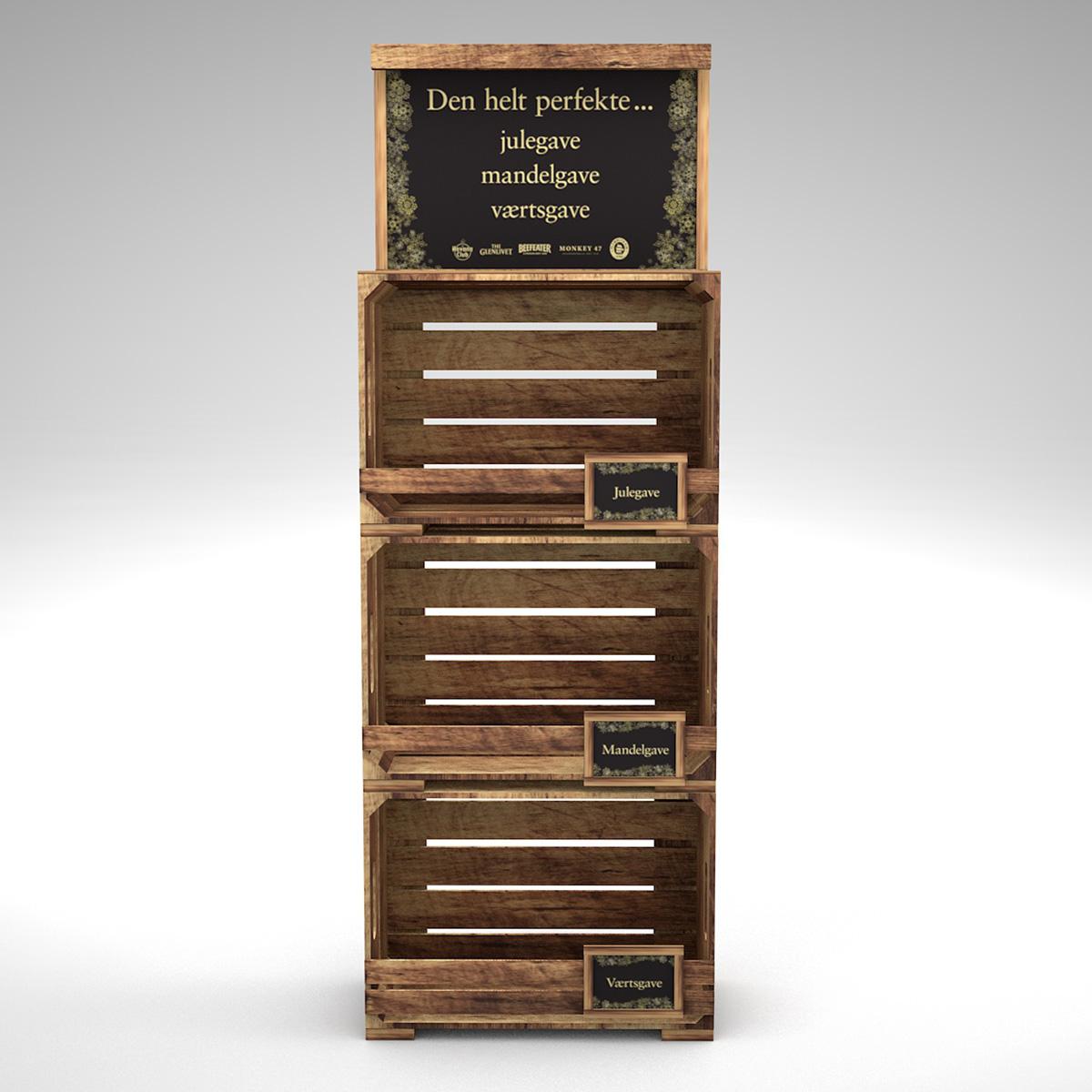 Drevený, boxový regál pre Kenwood vinárstvo